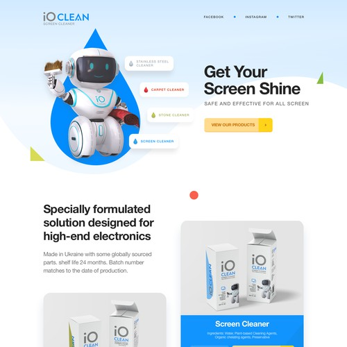 Landing Page Design iOClean