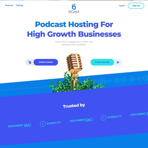 Website design for a Growth oriented podcast host