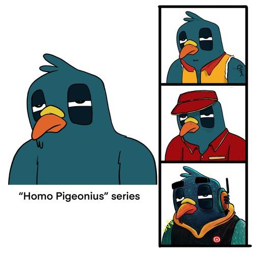 Homo Pigeonius NFT