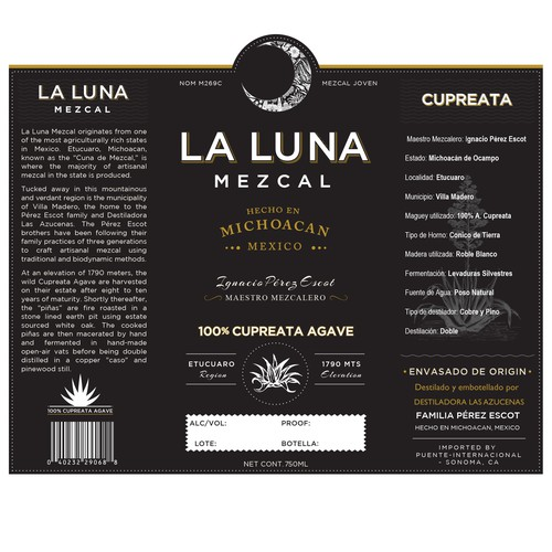 1 to 1 project to design a Mezcal label