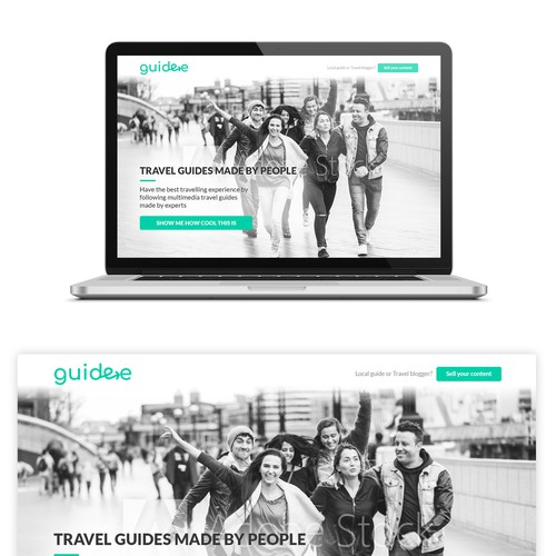 Website UI and UX design for travel guide website