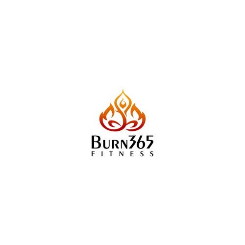 Burn365 Fitness logo concept