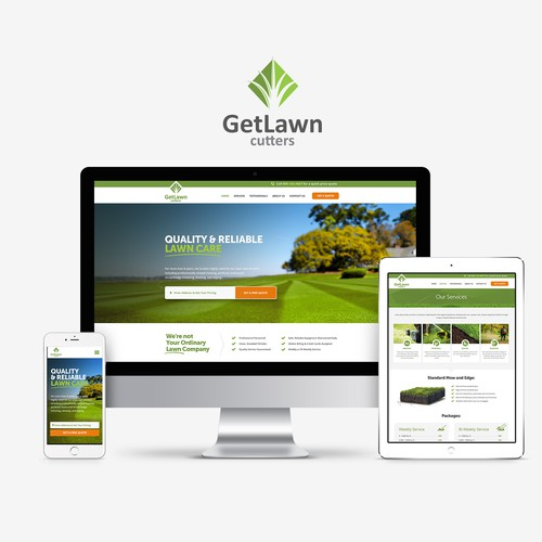 Website design for lawn care business