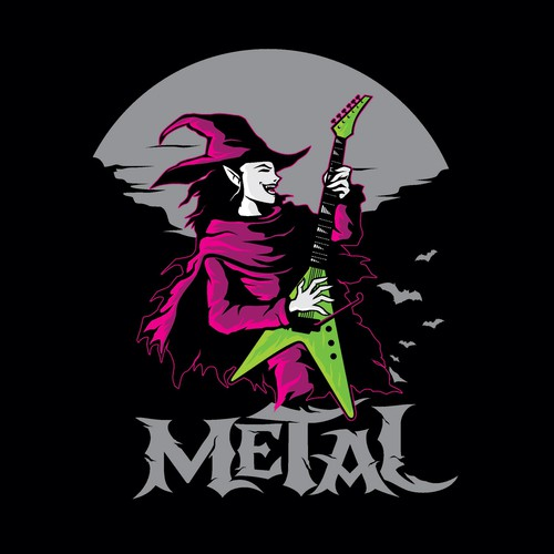 metal guitar witch