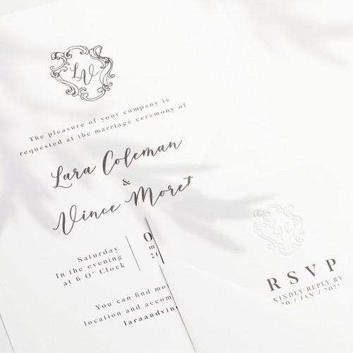 Wedding Invitation Crest