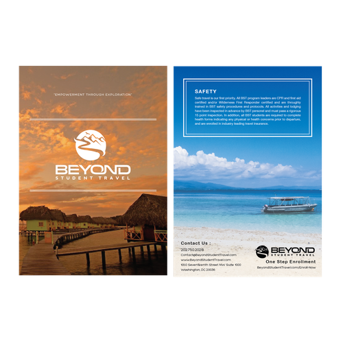 Create an exciting/adventurous/fun/professional brochure for Beyond Student Travel