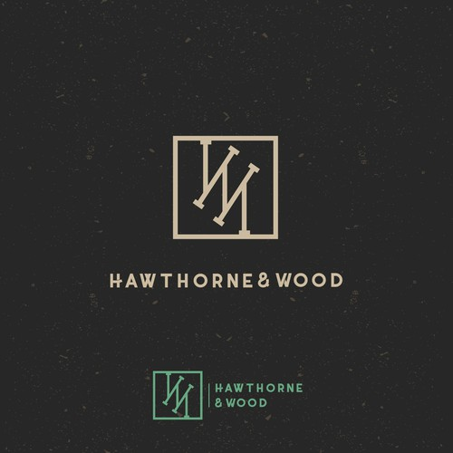 Hawthorne @ Wood restaurant logo design