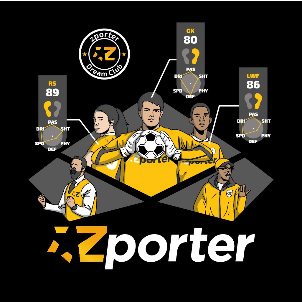 Zporter Illustrations - Supporting Football Talents & Professionals