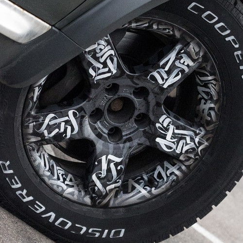 Calligraphy Pattern on Auto Wheels