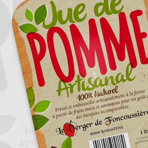 100% Natural Apple Juice Label