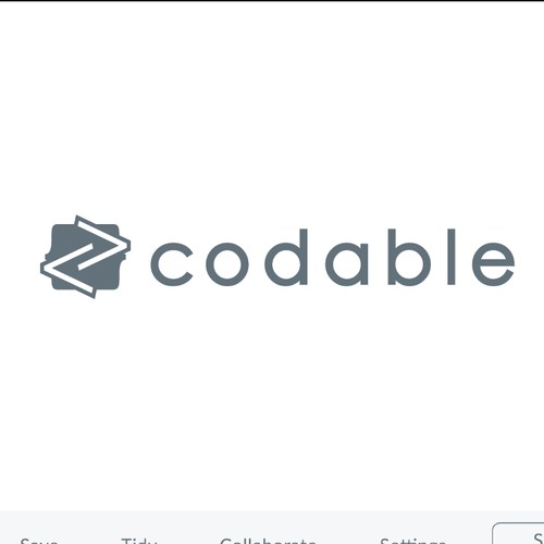 "Logo for Online Compiler Service ""codable""."