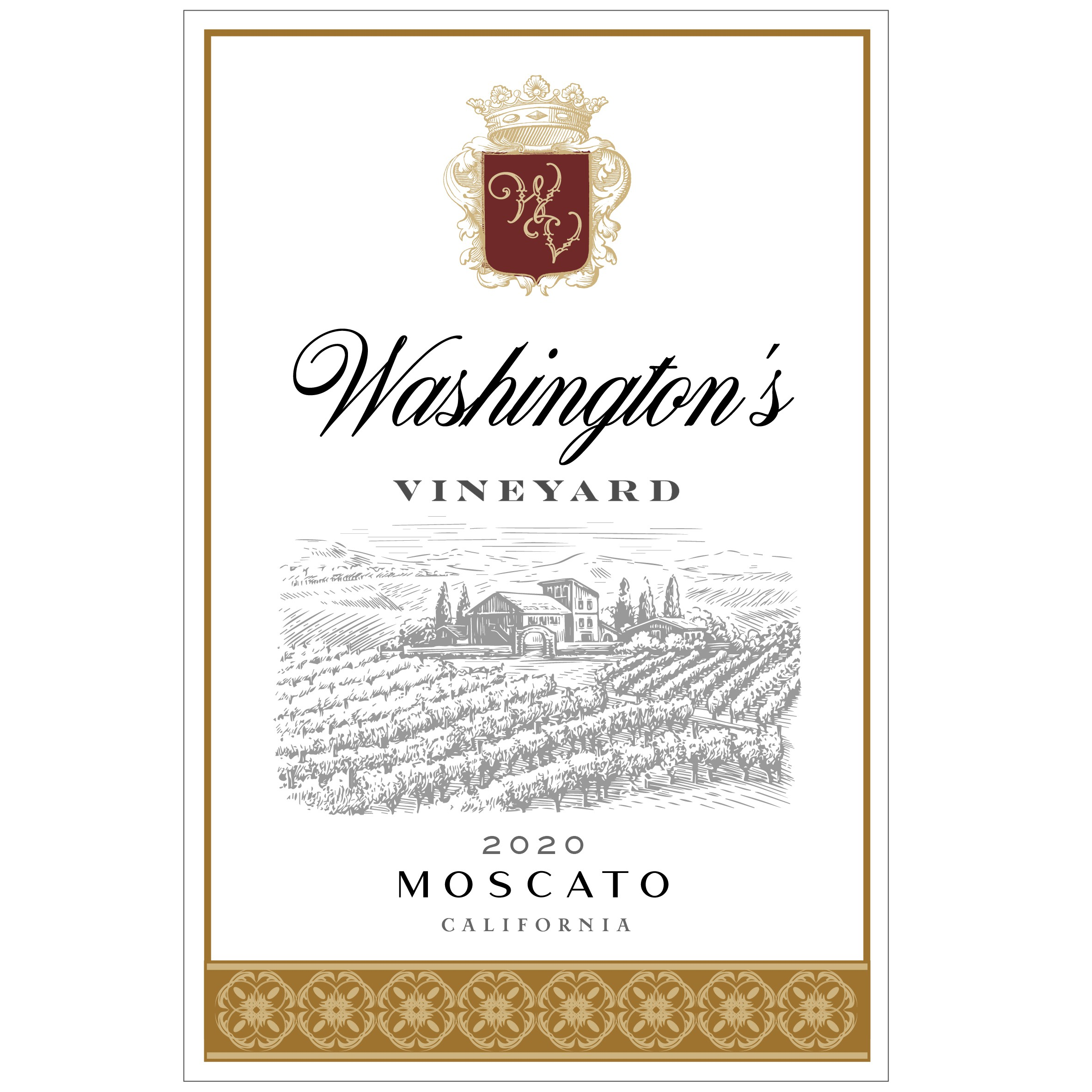 Wine Label - Washington's Vineyards