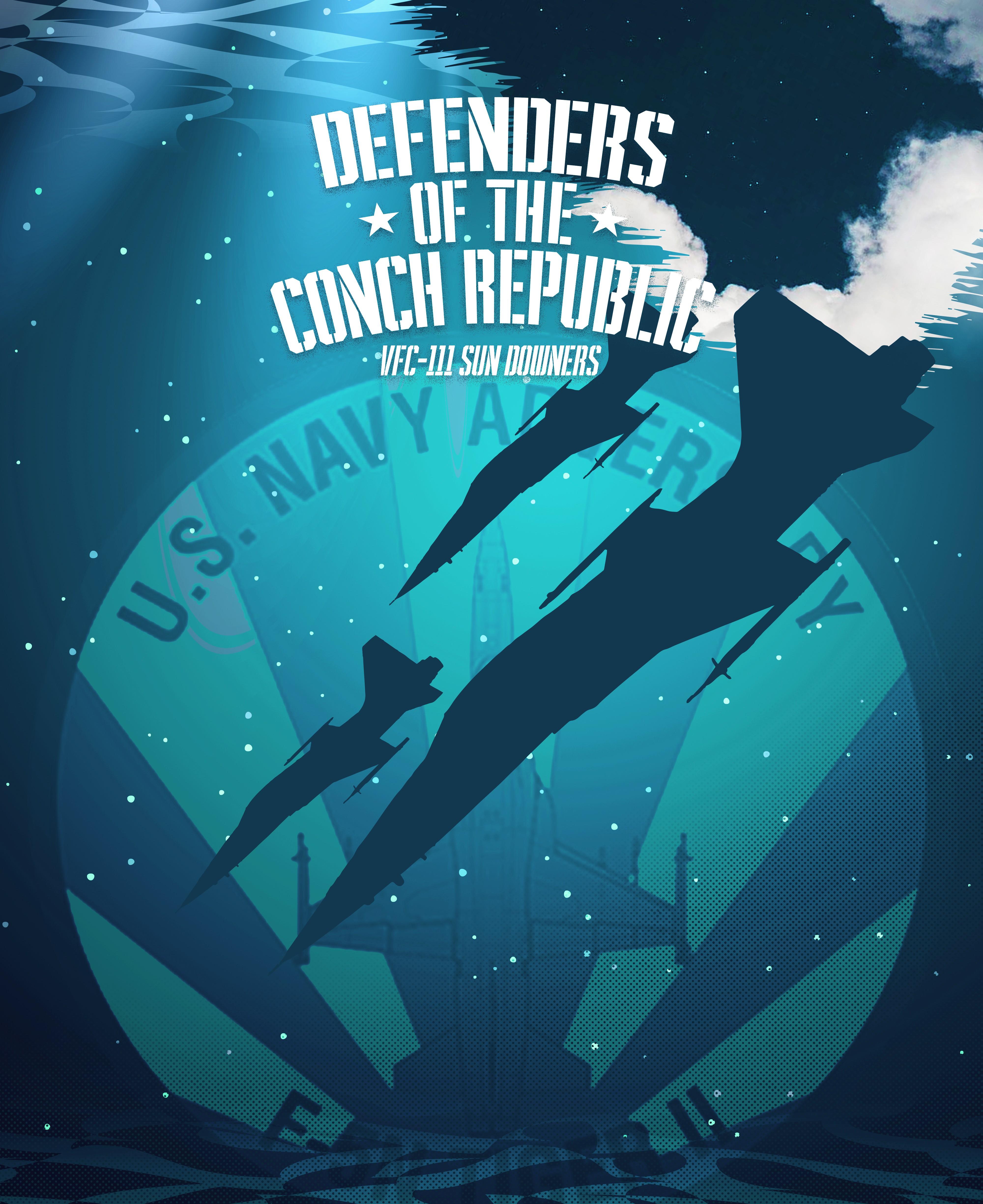 Key West based U.S. Navy fighter squadron fishing shirt