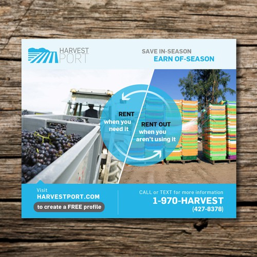 An eye-catching advertising will be run in several agriculture newsletters