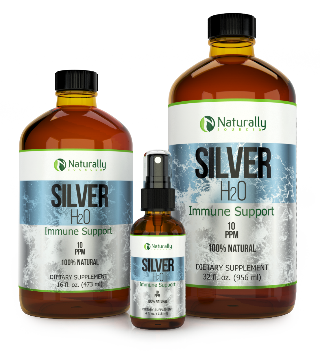 RE-Do of Naturally Sourced Colloidal Silver Label
