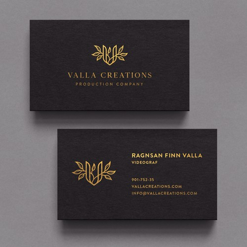 Minimalist Valla Creations Business Card