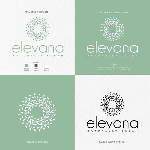 Organic concept for elevana cosmetics.