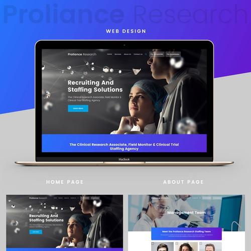 Bold Website Design For Medical Company