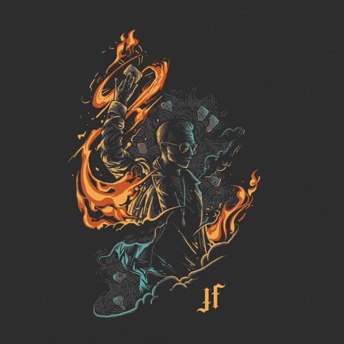 Justin Flom Tour t-shirt design