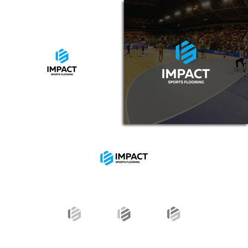 Bold logo concept for sports flooring company