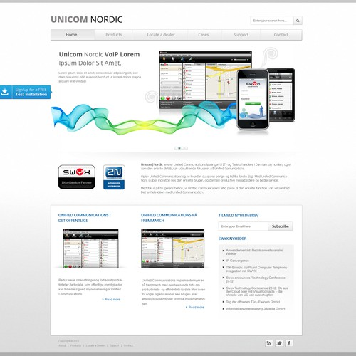 Unicom Nordic needs a new website design