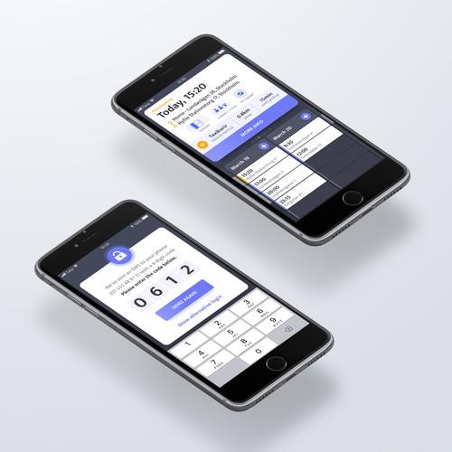 Sleek Ride Booking App UI