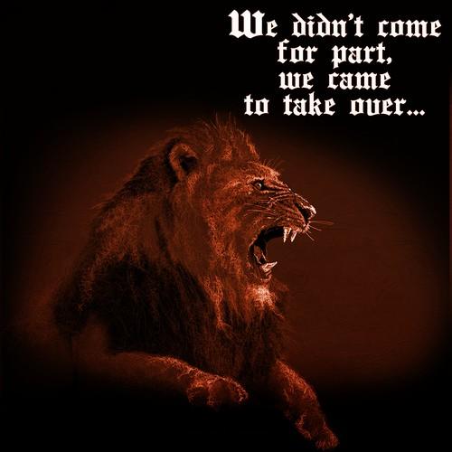 sepia lion