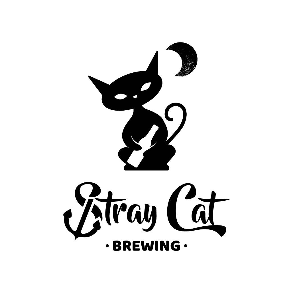 """Logo design for new beer brand """"Stray Cat"""" / 新ビールブランド「ストレイキャット」のロゴ"""