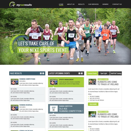 Web Site Design For Run Results