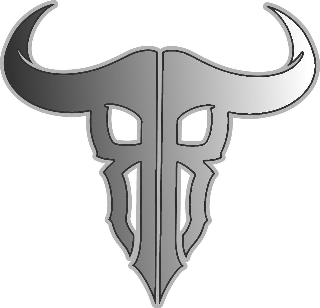 Bull skull logo gesign