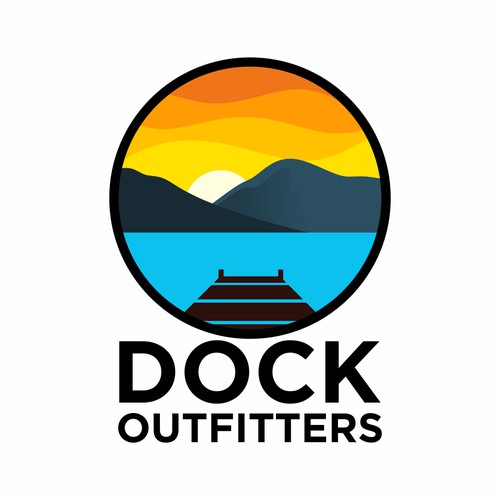 modern logo for dock outfitters