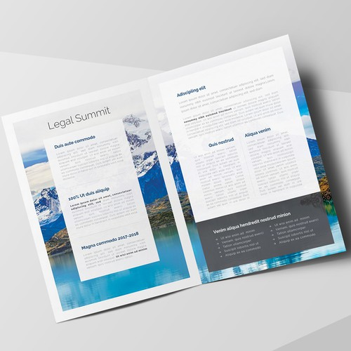 Brochure Concept for Legal Summit