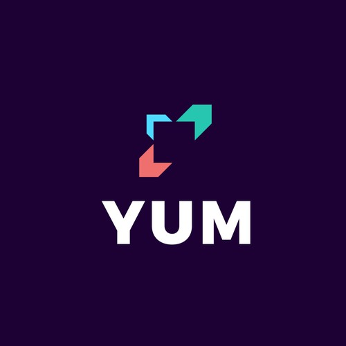 Digital agency YUM logo concept