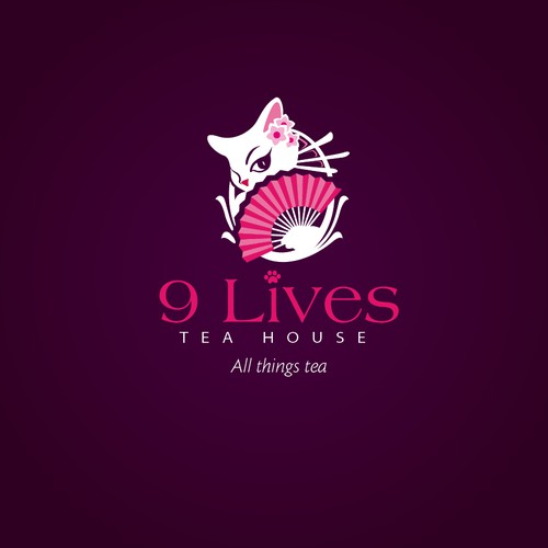 logo for 9 Lives Tea House