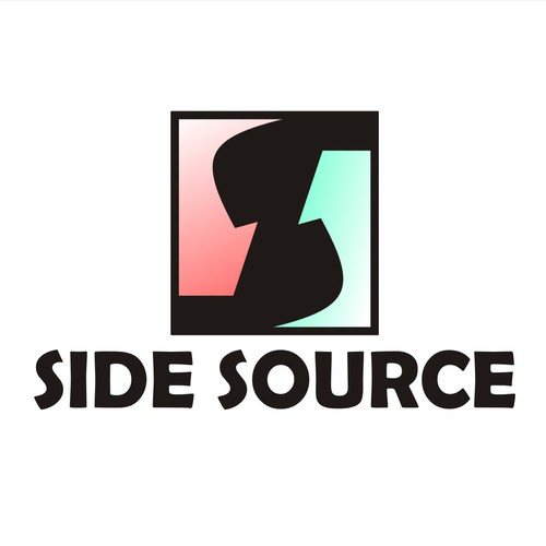 Custom, clean and simple logo for Side Source