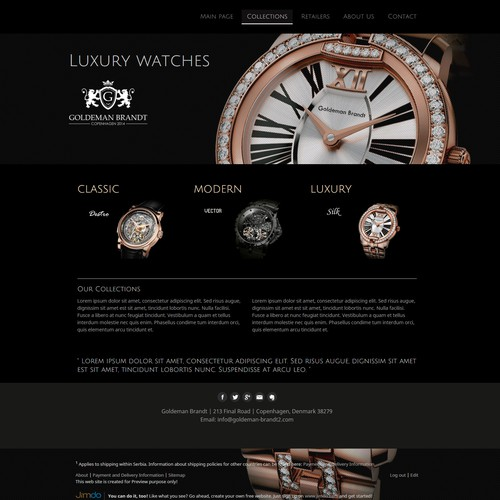 Luxury Watches Website preview