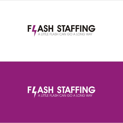 Simple & strong logo for Flash Staffing