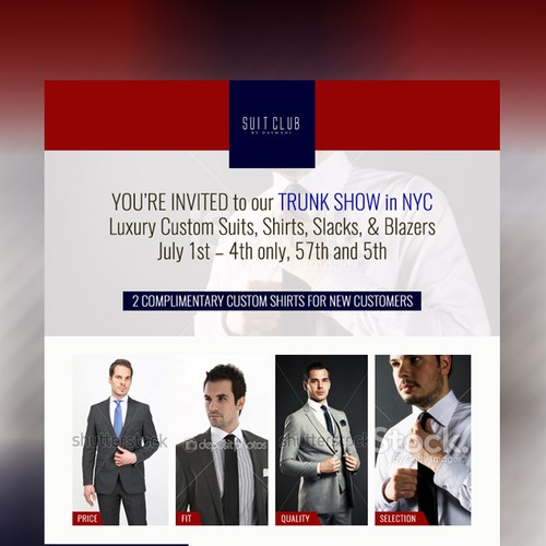 NEW YORK MEN'S FASHION COMPANY - Email Newsletter Needed!