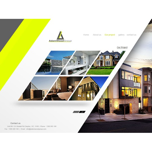 Help Adam Wood Group with a new website design