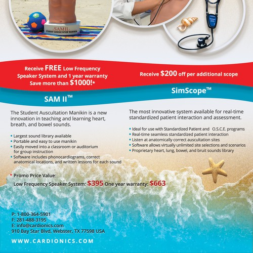 A Summer Promo Flyer for Cardionics