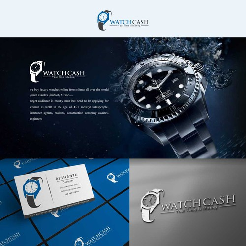 Watchcash simple and luxury logo design