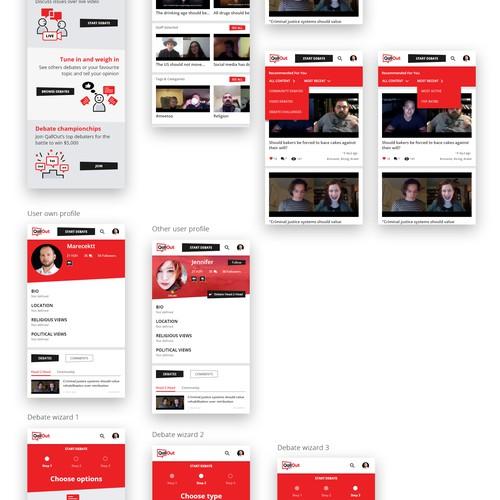 Live video debate app