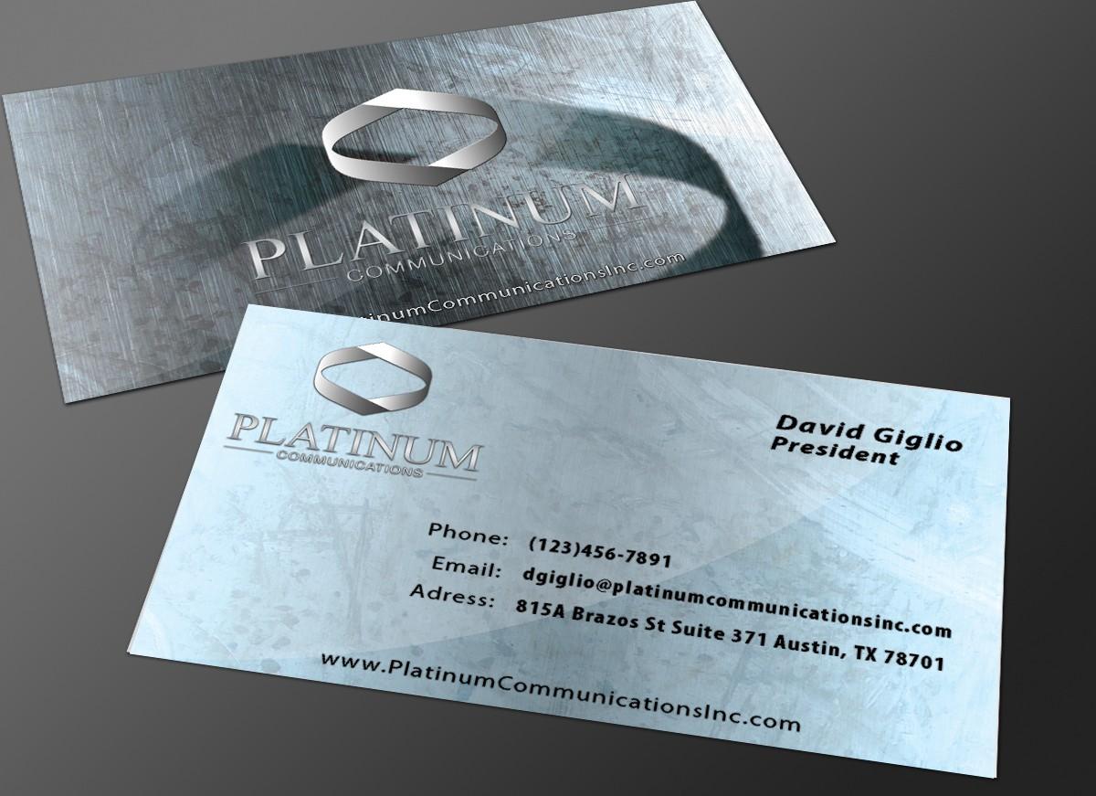stationery for Platinum Communications