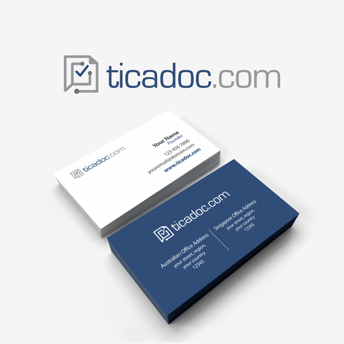ticadoc logo and business card