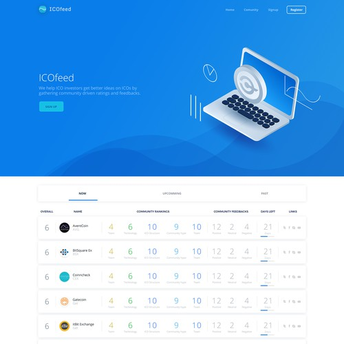ICOfeeed web concept