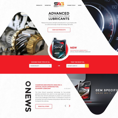 Bold, modern design for motor oil company
