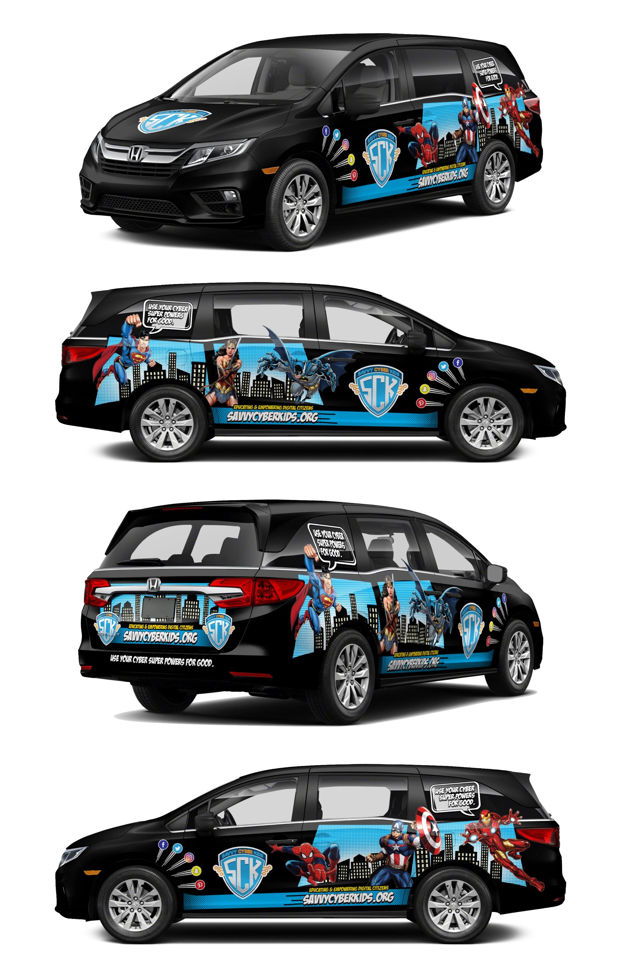 Design Superhero Car Wrap