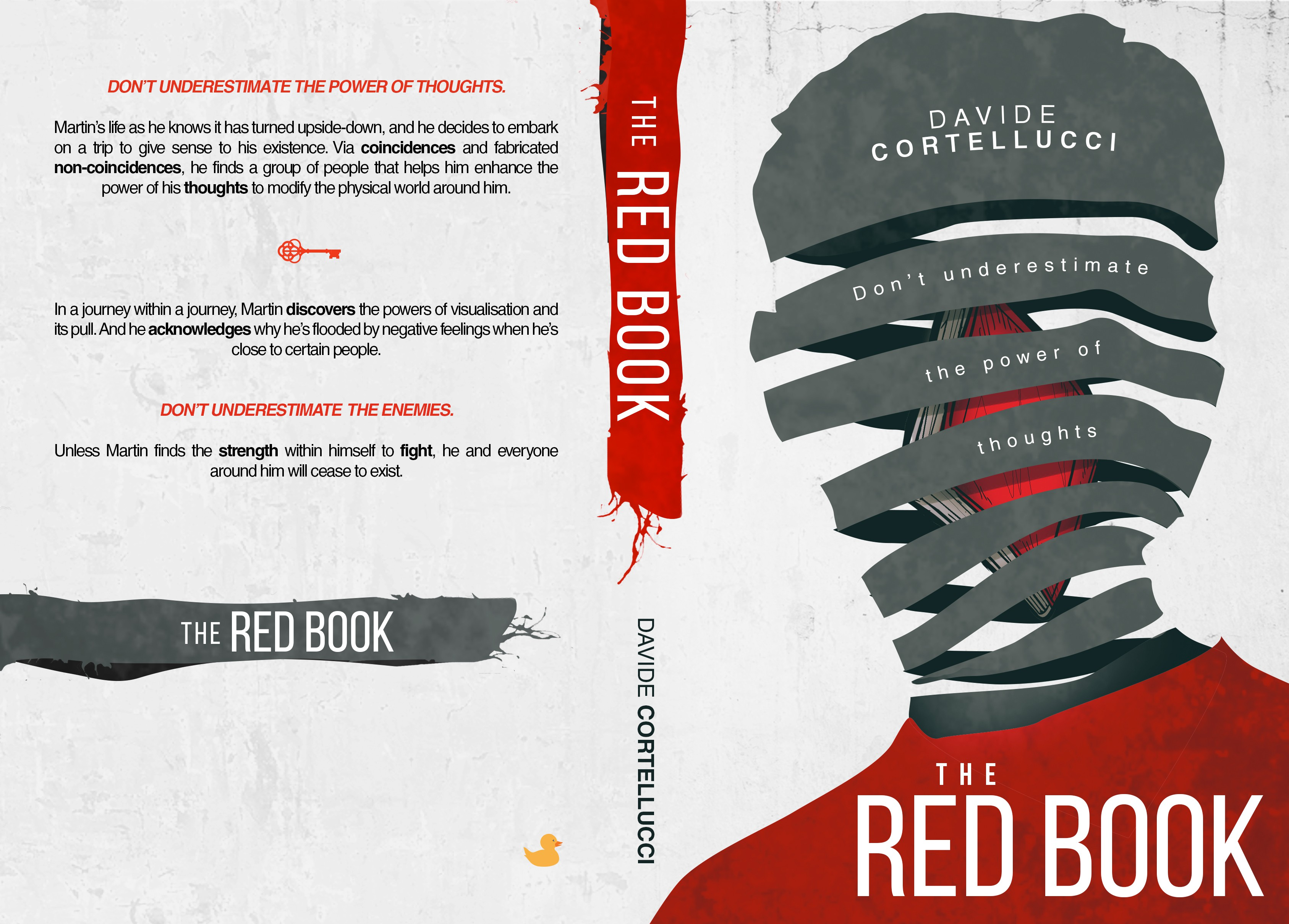 A new novel, THE RED BOOK, needs a great cover that would become an icon through time.