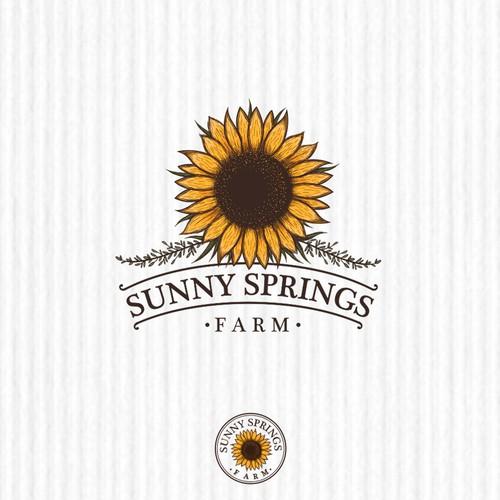 "Logo design concept for ""Sunny Spring Farm"""
