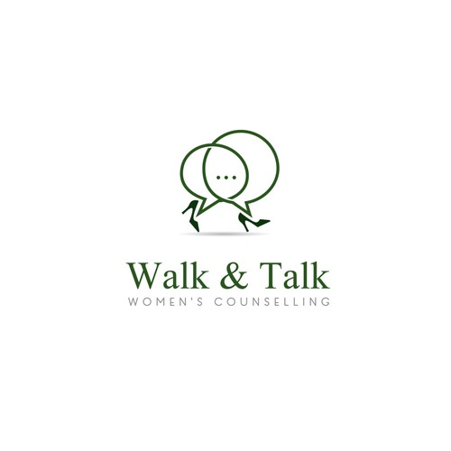 Create a classy feminine logo for walk&talk counselling